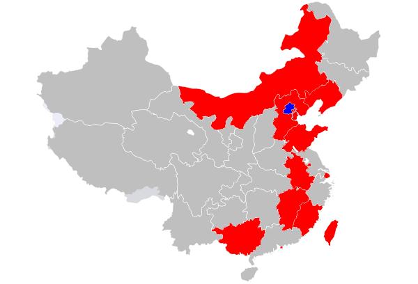 中国旅行地图